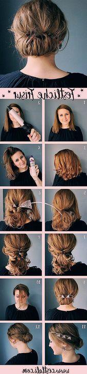 Festive hairstyle instructions – #instruction #festive #frisur – #frisuren