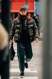 Der beste Streetstyle für Männer der New York Fashion Week #best #fashio … – Daunenjacke