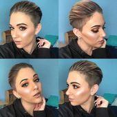 35+ Neueste Kurzhaarfrisuren für Frauen 2019 #easyshorthairstyles 35+ Neueste Kurzhaarfrisuren für Frauen 2019 - #bobhair #Hair #haircuts