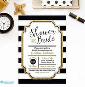 Wedding Invitations Black And White Gold Bridal Shower 32 Ideas For 2019