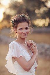 15 Frisuren mit Blumenkronen für Hochzeit – wedding