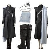 Hot Cake Game of Thrones Season 7 Cosplay Daenerys Targaryen Costume Customized     eBay