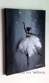 Swan Ballerina – Cadeau pour chambre d'enfant chambre d'enfant chambre Decor chambre d'enfant chambre Decal garçon chambre Decor fille chambre Decor Baby Art   – zeichnen
