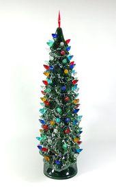 Photo of Windowsill Stil beleuchteten Keramik Weihnachtsbaum Made To Order # Keramik # Weihnachten …