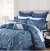 Tribeca Living Atlantis 12-Pc. Cotton Queen Comforter Set Bedding