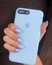#IPhone #phone #blue #nails #nail #nailart