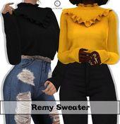 Lumy Sims – Remy Sweater für Die Sims 4