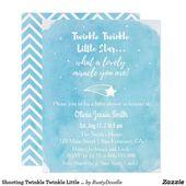 Baby Showers Twinkle Shooting Twinkle Twinkle Little Star Baby Shower Invitation