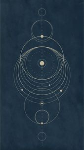 Iphone Wallpaper – Circle/Solar system design Ipho…
