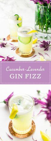 Umarmen Sie immer noch diese Patio-Nächte? Dieser Gurken-Lavendel-Gin-Fizz ist die Perfe …   – Burrata and Bubbles Recipes