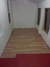 Installing Laminate Wood Flooring installing the remaining rows Hammers And High Heels Spare Room Flooring Is Done Diy Steps To Install Laminate