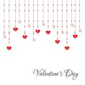 Download White Background With Hanging Hearts For Free