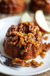 Sie werden diese Mini-Karamell-Apfelkuchen lieben! Dieses Dessertrezept ist leicht zu …   – My Just Desserts