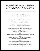 10 QUESTIONS TO REFLECT ON YOUR YEAR