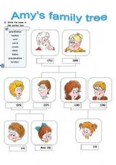 English worksheet: FAMILY MEMBERS AND RELATIONS 2 pages   WOW ...