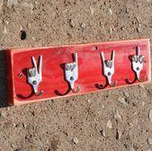 Frieden X Liebe X Rock auf x Gabel U Schlüsselablage Recycling Besteck