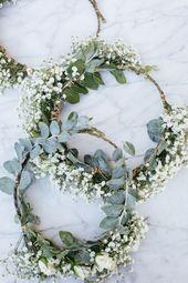 weiße al Fresco Dinner-Party außerhalb Tischblumen Blumenkronen – Bᴸᵁᴹᴱᴺ