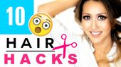★ Seen the previous 5 Lazy Hairstyles tutorial? youtu.be/e-75bxaoksY In this 10 life, beauty, hair hacks video, I'll teach you an easy way to cut yo...
