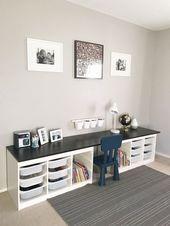 9 Kinderzimmer mit Trofast von IKEA als Geniespeicher – #als #Genius #ikea #kin