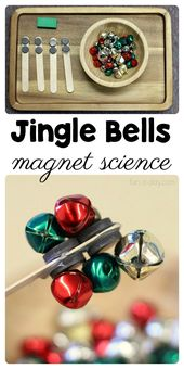 An Easy to Set Up Preschool Magnet Science Activity with Jingle Bells