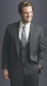 Steel Grey Allure Men Slim Fit Suit- 2 button notch lapel suit ...