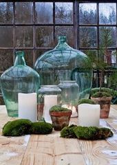 Las Damajuanas, oder wie man mit schönen getönten Glasflaschen dekoriert.