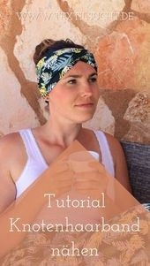 Sewing instructions: Sew the knot hair band