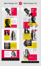 Si compara los diseños web de cinco años con los modernos, verá una gran diferencia …   – Web And App Design