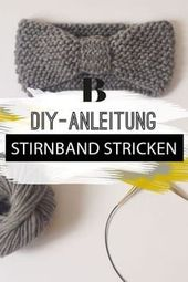 Knit headband - it's that easy