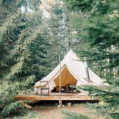 Bases de tente Bell pour plateforme en bois – Tentes respirantes Bell #canvastent #GlampingIsRad   – DIY