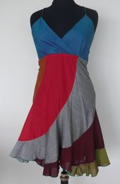 robe / tunique dos sans manches jupe en coton corolla multicolore …   – mila toko