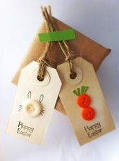 Gadgets just like Pleased Easter tags- bunnies & carrots – greeting reward tag -party favor tags (set of 6) on Etsy