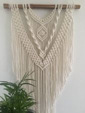 Macrame wall hanging, macrame wandkleed, macrame wandhanger, geweven muur opknoping, boho decor, muurdecoratie, tapestry, gift for her
