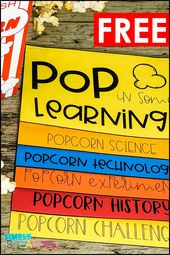 Popcorn science experiment for a science fair project or for class. Th…