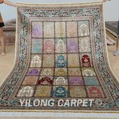 Yilong 6'x9' Turkish garden design silk ca…