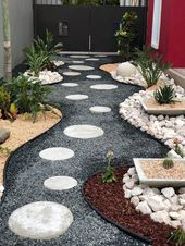 47 stunning front yard garden pathways landscaping ideas 23 | Justaddblog.com – Elamaus