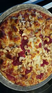 Cranberry Cashew Chicken Pizza   Directions: •Preheat oven to 425  •Mix jell…