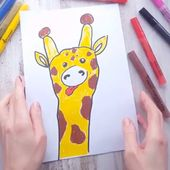 Easy guide How to draw giraffe