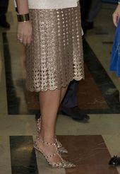 Crochet golden skirt