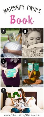 Baby Bump Books for Maternity Photo Shoot Prop