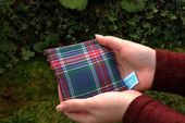 Pocket warmer reusable | 10cm x 10cm | Heat / cold pillow | Rapeseed pillow | Flannel fabric plaid
