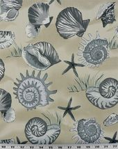 Sea Shells China Fabric – Indoor / Outdoor