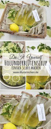 Rezept – Holunderblütensirup selber machen – schnell und einfach