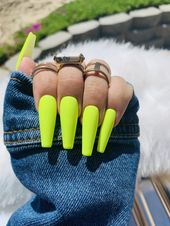 READY TO SHIP |Neon Yellow Nails| Neon Nails | Yellow  Nails | Yellow Press on Nails | Summer Gel Nails | Press on Nails | Fake Nails |