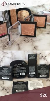 Moist n Wild Highlighter Bundle 100% AUTHENTIC!! 6 Moist n Wild highlighters. They a…
