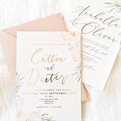 """Wedding & Events Briefpapier auf Instagram: """"Samples gehen heute in die Post ✨""""   – Aquarell"""