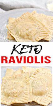 BEST Keto Raviolis! Low Carb Pasta Raviolis Idea – Selbstgemacht – Schnell & Einfach Ketogene Diät Rezept – Komplett Keto-freundlich   – Keto Recipes and Ideas