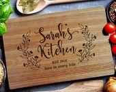 Custom Cutting Board, HOME sweet HOME, Kitchen sign, Custom Engraved Board, custom cutting board, clousing gift (178)