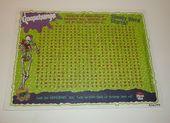 Vintage Gänsehaut Pizza Hütte Wortsuchrätsel 1997 Ad Promo Papier Tischset #G …