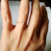 Natural AAA Solid Opal – SOLID 14k Gold – Stack Ring – Real Australian White Opal – October Birthstone